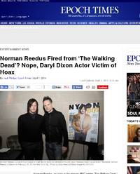 Norman Reedus Fired from 'The Walking Dead: Epoch Times